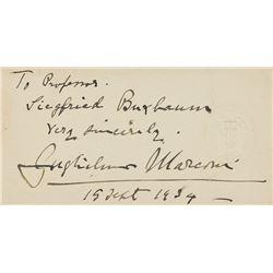 Guglielmo Marconi Signature