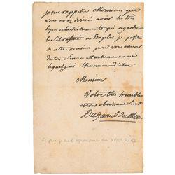 Henri-Louis Duhamel du Monceau Autograph Letter Signed