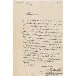 Francois-Vincent Raspail Autograph Letter Signed
