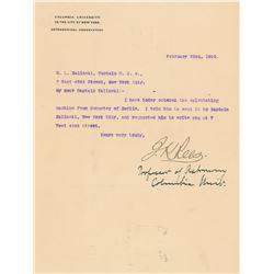 John Krom Rees Typed Letter Signed