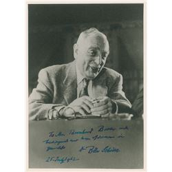 Bela Schick Autograph Note Signed and Signed Photograph
