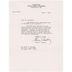 Glenn Seaborg Typed Letter Signed