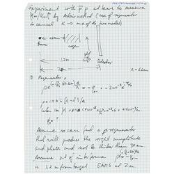Jack Steinberger Handwritten Notes