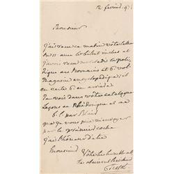 Samuel-Auguste Tissot Letter Signed