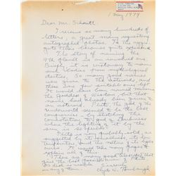 Clyde W. Tombaugh Autograph Letter Signed
