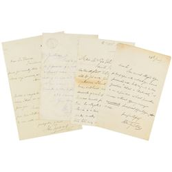 John Tyndall Group of (4) Autograph Letters Signed