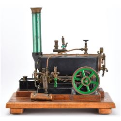 Antique Steam Engine Model