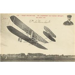 Orville Wright and Charles de Lambert Signed Program and Photographs