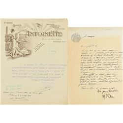 Louis Bleriot Typed Letter Signed