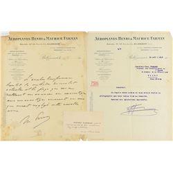 Maurice Farman Autograph Letter Signed