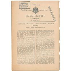German Aviation Patent: Molnar, Rogler, and Horbiger