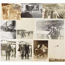 Charles Lindbergh Group of (10) Photographs
