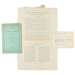 Nadar: Society of Encouragement of Aerial Locomotion Group of (3) Items