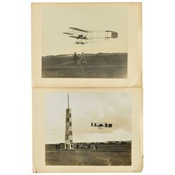 Louis Paulhan Signed Menu and Group of Photographs