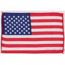 Dave Scott's Apollo 15 Lunar Orbit-Flown Flag