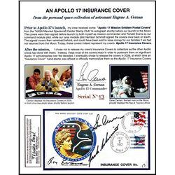 Gene Cernan's Apollo 17 Insurance Cover