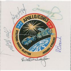 Tom Stafford's Apollo-Soyuz Flown Crew-Signed Beta Patch