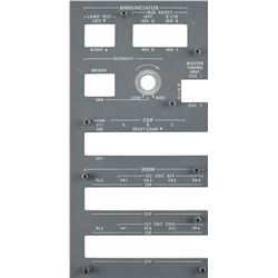 Space Shuttle Annunciator Control Panel Faceplate