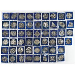 Collection of (52) Space Shuttle Robbins Medallions