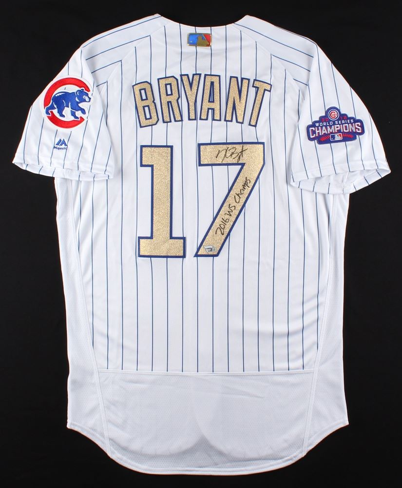 d47067670 Image 1 : Kris Bryant Signed Cubs Majestic Authentic Jersey Inscribed