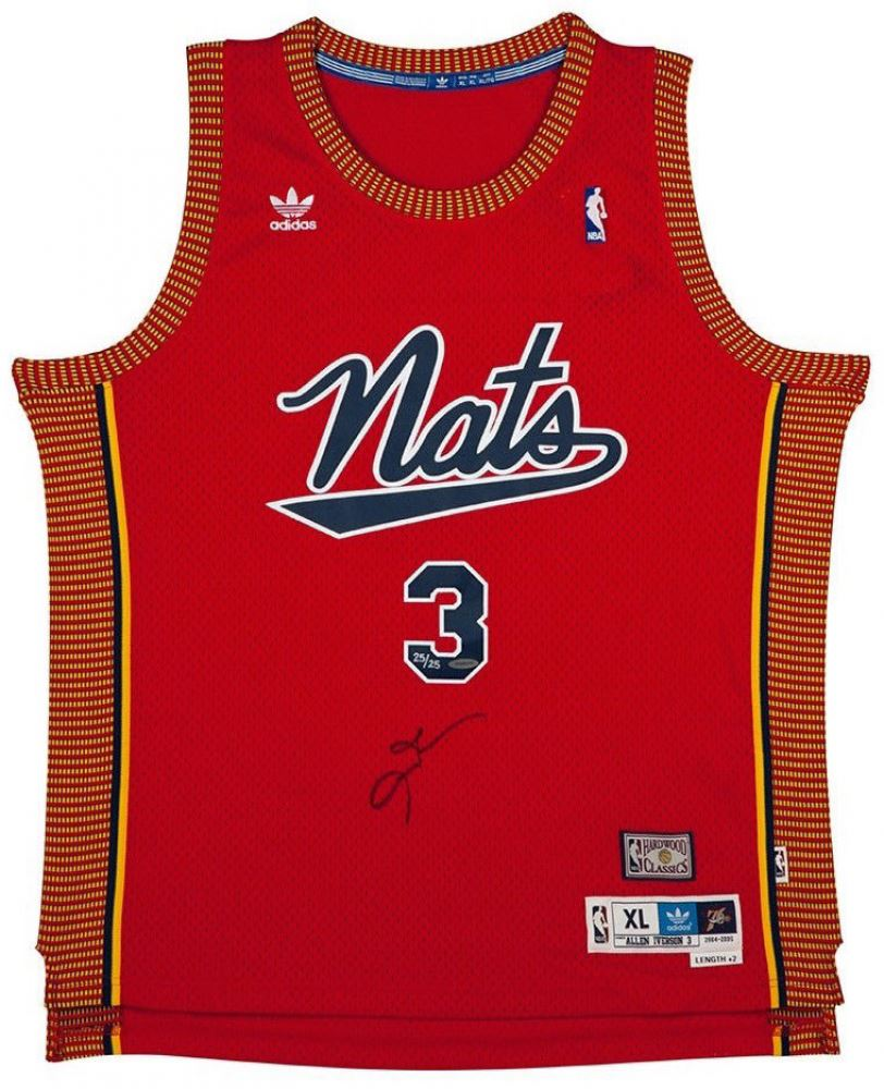 check out aa542 a46fc Allen Iverson Signed Nationals Limited Edition Throwback ...