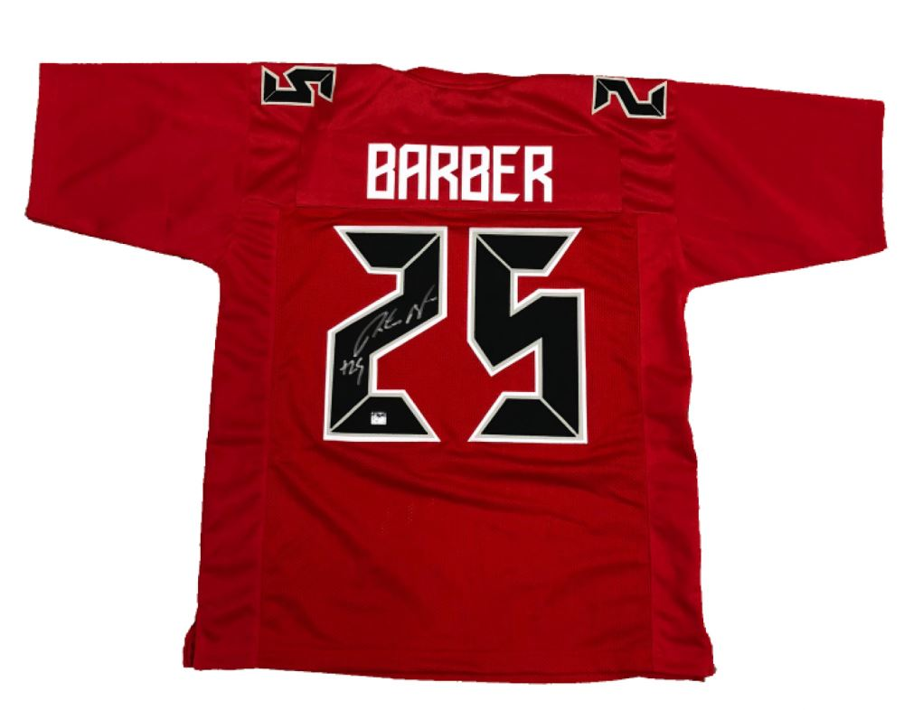 100% authentic 18273 07110 Peyton Barber Signed Buccaneers Color Rush Jersey (Barber ...