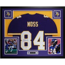 info for b4c96 b52af Randy Moss Signed Vikings 35x43 Custom Framed Jersey ...