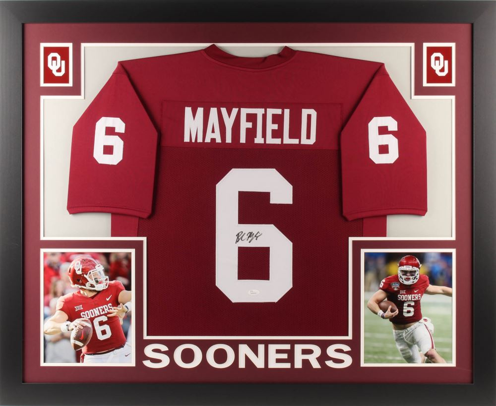 quality design bb06d db806 Baker Mayfield Signed Oklahoma Sooners 35x43 Custom ...