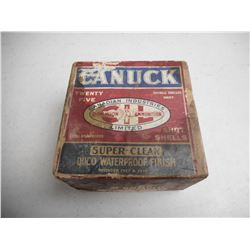 12 GA. 2 3/4 # 3 SHOT IN DOMINION CANUCK VINTAGE BOX