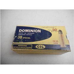 .38 SPECIAL DOMINION CIL AMMO