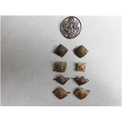 ASSORTED PIPS & U.S. AIR FORCE ENLISTED CAP BADGE