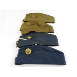 ASSORTED INFANTRY & AIRFORCE SIDE HATS