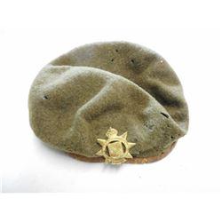 WEST NOVA SCOTIA REGIMENT HAT BADGE & BERET