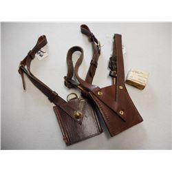 LEATHER SWORD FROGS & GUN PARTS