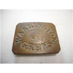 CIVIL WAR ERA U.S. WASHINGTON G GREY'S BUCKLE