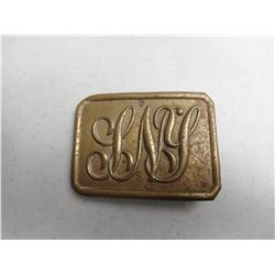 U.S. BRASS MILITARY BELT BUCKLE