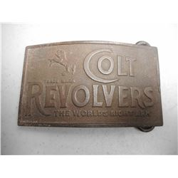 BRASS/BRONZE COLT REVOLVERS BELT BUCKLE