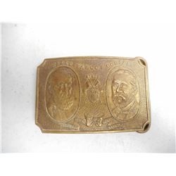BRASS/BRONZE WELLS FARGO & COMPANY BELT BUCKLE