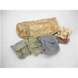 ASSORTED CANVAS SATCHELS & SACKS
