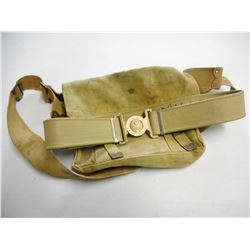 WWI CANVAS SATCHEL & CANADIAN BELT WITH BUCKLE