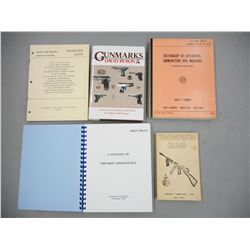 ASSORTED MILITARY FIREARMS BOOKS