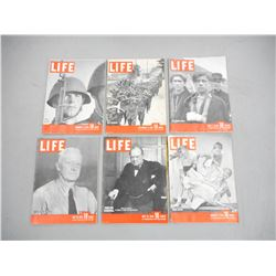 ASSORTED WWII ERA LIFE MAGAZINES