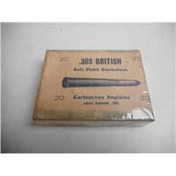 EMPTY ANTIQUE 303 BRITISH BOX