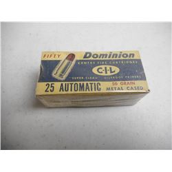 EMPTY ANTIQUE DOMINION/CIL 25 AUTO BOX