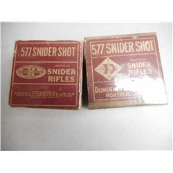 EMPTY ANTIQUE 577 SNIDER SHOT BOXES