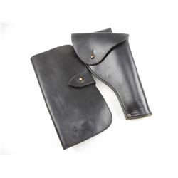BLACK LEATHER HOLSTER/ AMMO POUCH