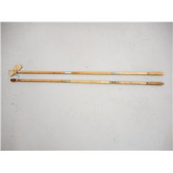 ANTIQUE WOODEN CLEANING RODS