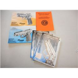 ASSORTED SIG SAUER & CZ MANUALS