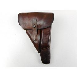 WWII ERA, WALTHER P38 LEATHER HOLSTER , MODEL:  , CALIBER: