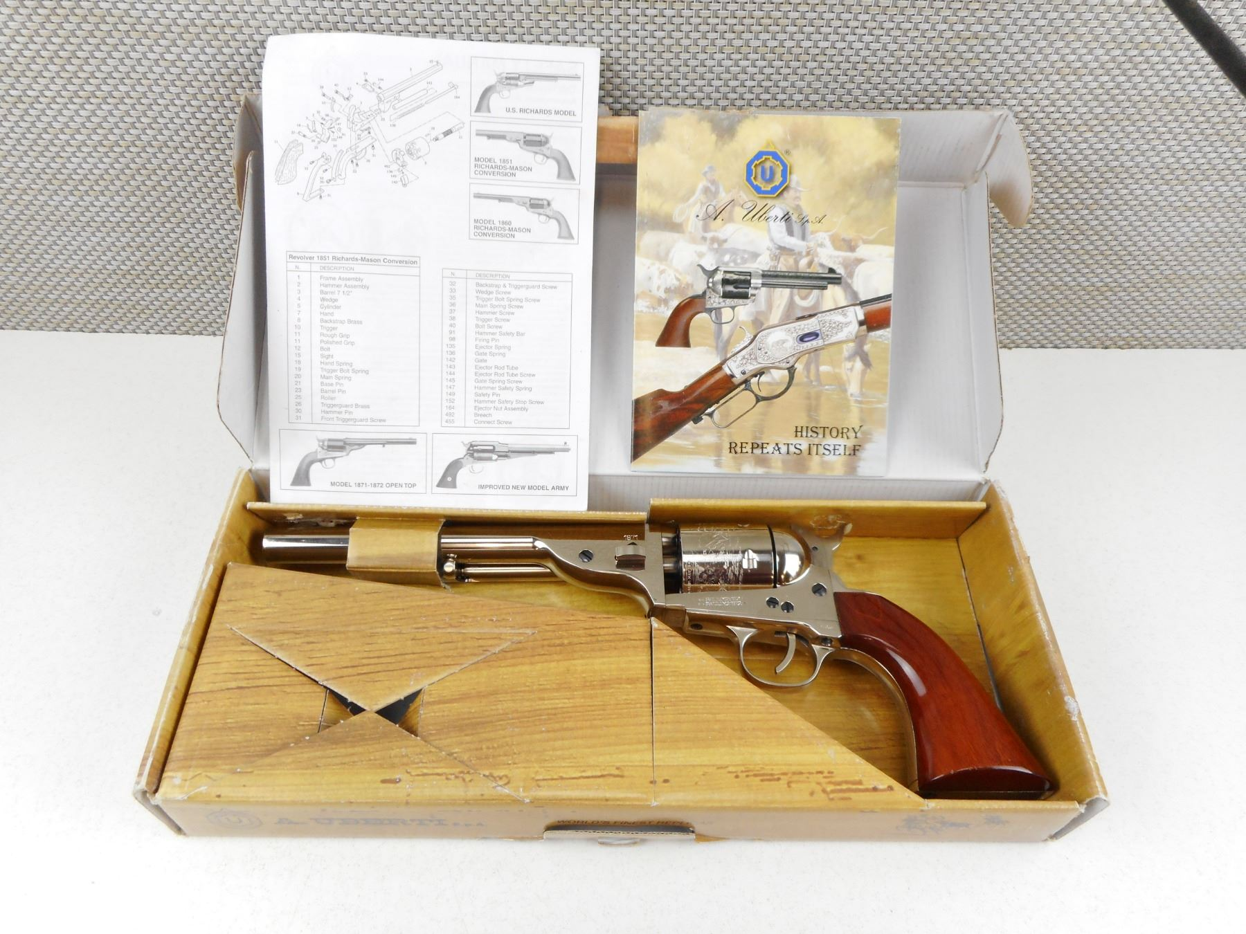 UBERTI , MODEL: COLT 1871/72 OPEN TOP FRONTIER REPRODUCTION , CALIBER: 45  COLT